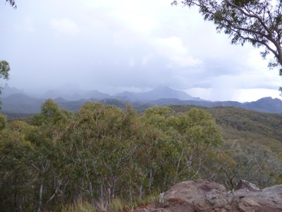 Warrumbungle National Park, whitegum lookout, new south wales