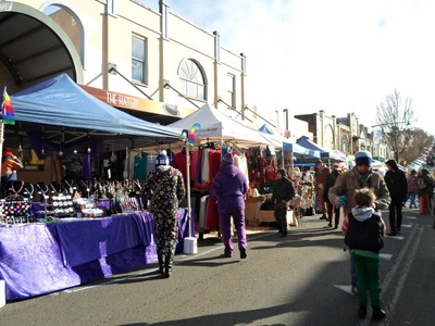 blue mountains winter magic festival stalls