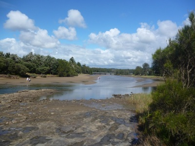 crooked river, gerroa, seven mile beach